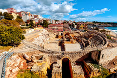 Roman amphitheater of Tarragona, Spain Stock Images