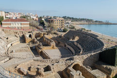 Roman amphitheater, Tarragona, Spain Royalty Free Stock Image