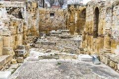 Roman amphitheater in Tarragona, Spain Royalty Free Stock Images