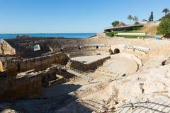 Roman amphitheater at Tarragona Stock Images