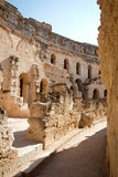 Roman amphitheater of Thysdrus, El Djem, Tunisia. Detail from the interior of the ancient roman amphitheatre in El Djem, Tunisia royalty free stock photos
