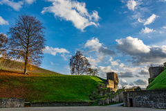 Roman Amphitheater in Trier in autumn, Germany Stock Photography