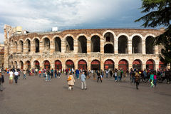 Roman amphitheater  in Verona, Italy. Stock Images