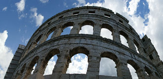 Roman Amphitheater, view of the Arena (colosseum)  in Pula, Croatia Stock Photography
