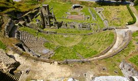 Roman Amphitheater, Volterra, Itália Imagens de Stock Royalty Free