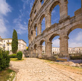 Roman amphitheater (arena) in Pula. Croatia. Royalty Free Stock Image