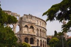 Roman amphitheater (arena) in Pula. Croatia. Royalty Free Stock Images