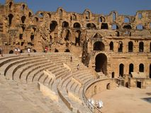 Roman amphitheather Stock Photos