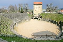 Roman Amphitheatre 1 Royalty Free Stock Photo
