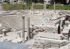 Roman amphitheatre. An ancient Roman amphitheatre in Alexandria. Over 30 years of excavation have uncovered many Roman remains including this well-preserved Stock Images