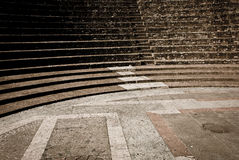 Roman amphitheatre 5. Details of Roman amphitheatre placed in Lyon royalty free stock image