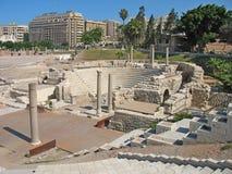 Roman Amphitheatre, Alexandrië, Egypte Stock Foto