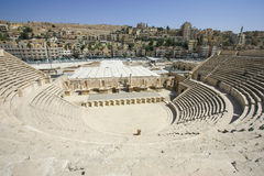 Roman amphitheatre of Amman Jordan. Roman amphitheatre of Amman, Jordan Stock Image