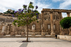 Roman amphitheatre in Amman, Jordan. View at the roman amphitheatre in Amman, Jordan Royalty Free Stock Image