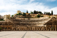 Roman amphitheatre in Amman, Jordan Royalty Free Stock Images
