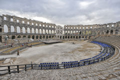 Roman amphitheatre The Arena, Pula, Croatia Stock Photo