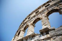 Roman Amphitheatre Arena in Pula, Croatia stock photos