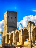Roman amphitheatre, Arles, France Stock Photography