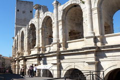 Roman amphitheatre of Arles, France Royalty Free Stock Images