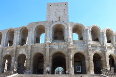 Roman amphitheatre in Arles, France Stock Photo