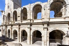 Roman amphitheatre in Arles, France. Roman amphitheatre roman arena in Arles, France Royalty Free Stock Photo