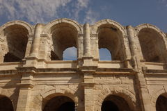 Roman Amphitheatre at Arles Stock Images