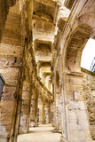 Roman amphitheatre in Arles - UNESCO heritage in France. Roman amphitheatre in Arles - UNESCO world heritage in France Royalty Free Stock Photo