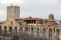 Roman amphitheatre in Arles - UNESCO world heritage. In France Royalty Free Stock Photography