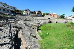 Roman Amphitheatre av Durres arkivbilder