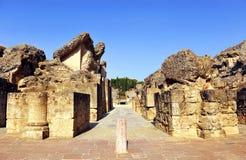 Roman Amphitheatre av Italica, Andalusia, Spanien royaltyfri foto