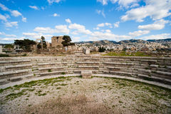 Roman Amphitheatre at Byblos Fortress. Stock Photos