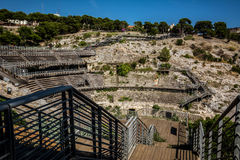 Roman amphitheatre of Cagliari, Sardinia Royalty Free Stock Image