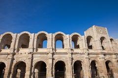 Roman amphitheatre (circa 90 AD). Arles, France Royalty Free Stock Images
