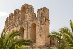 Roman Amphitheatre do EL Jem, lugar onde o gladiador do filme foi filmado imagem de stock royalty free