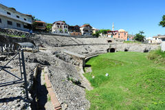 Roman Amphitheatre of Durres Stock Images