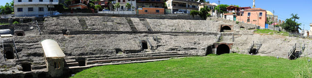 Roman Amphitheatre of Durres Royalty Free Stock Images