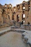 Roman Amphitheatre of El Jem royalty free stock photo