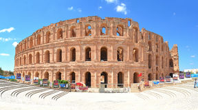 The Roman amphitheatre of El Jem stock image