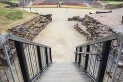 Roman Amphitheatre em Chester fotografia de stock