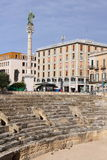 Roman Amphitheatre em Lecce, Itália imagem de stock