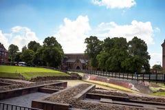 Roman Amphitheatre en Chester England Image stock
