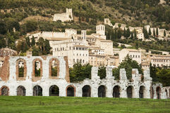 Roman amphitheatre in Gubbio Royalty Free Stock Image