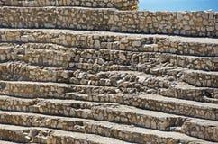 Roman Amphitheatre i staden av Tarragona Arkivbilder
