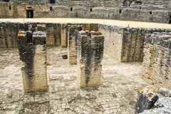 Roman amphitheatre at Italica, Andalusia, Spain Royalty Free Stock Image