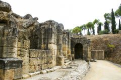 Roman amphitheatre at Italica, Andalusia, Spain Royalty Free Stock Photography