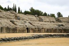 Roman amphitheatre at Italica, Andalusia, Spain Stock Photo