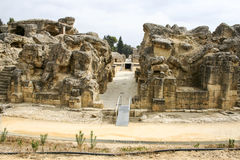 Roman amphitheatre at Italica, Andalusia, Spain Royalty Free Stock Photos