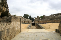 Roman amphitheatre at Italica, Andalusia, Spain Royalty Free Stock Photo