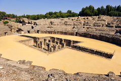 Roman Amphitheatre of Italica, Seville, Andalusia, Spain Royalty Free Stock Photo