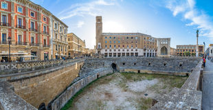 Roman amphitheatre in Lecce, Italy. Royalty Free Stock Photo